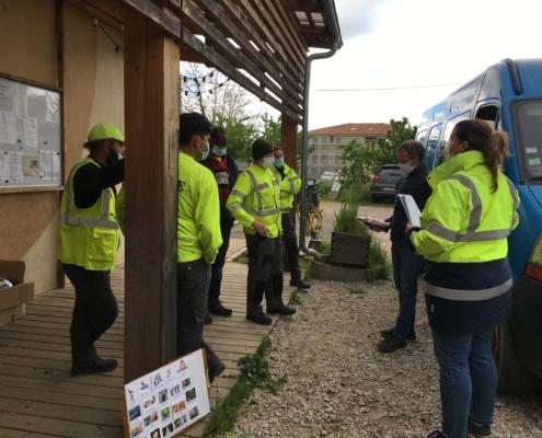 Les salariés d'OASURE en séance participative de l'atelier ISCT et RSEI avec le thème de la prévention des risques.